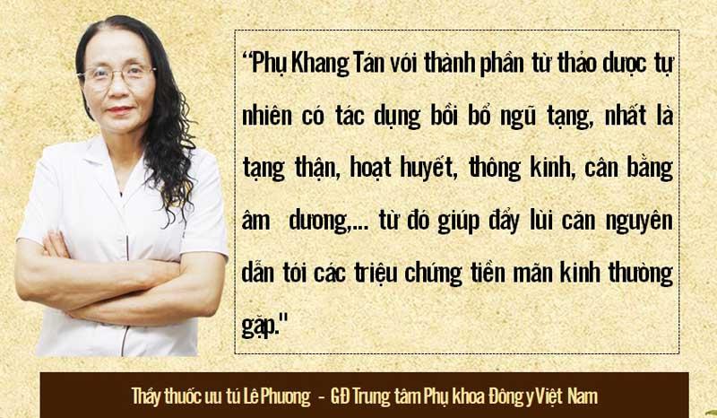 Chia sẻ bác sĩ Phương về Phụ Kkhang Tán