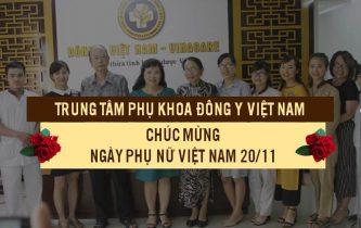 Trung tâm Phụ khoa Đông y Việt Nam chúc mừng ngày 20/10