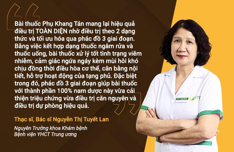 Bác sĩ Tuyết Lan nhận xét bài thuốc