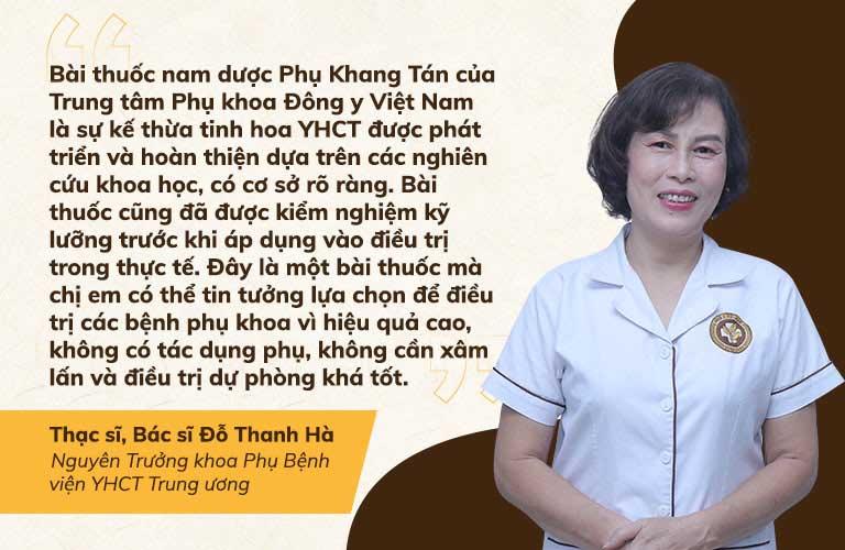 Bác sĩ Vân Anh nhận định bài thuốc