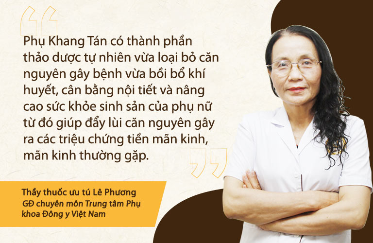 Bác sĩ Phương chia sẻ Phụ Khang Tán