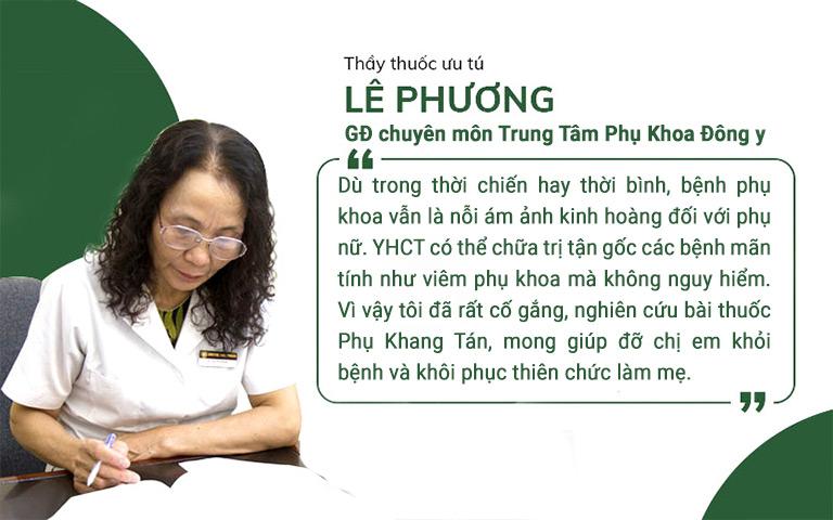 Tâm sự của bác sĩ Lê Phương về cơ duyên đến với điều trị phụ khoa