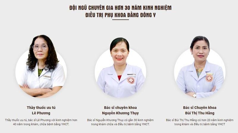 Đội ngũ bác sĩ tại trung tâm