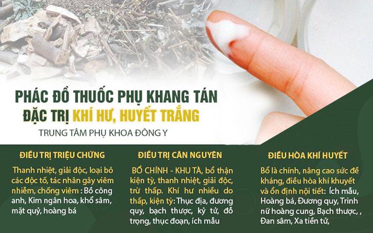 3 giai đoạn điều trị khí hư bất thường