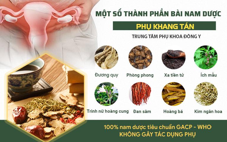 Phụ Khang Tán là bài thuốc kết hợp nhiều vị thuốc quý