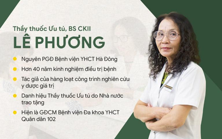 Bác sĩ Lê Phương - Bác sĩ chính phụ trách điều trị tại Trung tâm Phụ khoa Đông y Việt Nam
