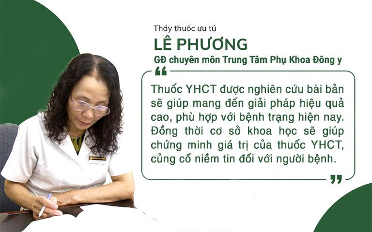 Bác sĩ Lê Phương nhận đinh về tầm quan trọng của nghiên cứu thuốc YHCT