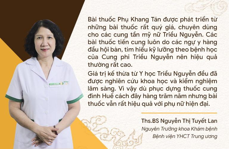 Chuyên gia đánh giá cao việc Phụ Khang Tán được nâng cấp từ những bài thuốc trong cuốn Châu bản triều Nguyễn