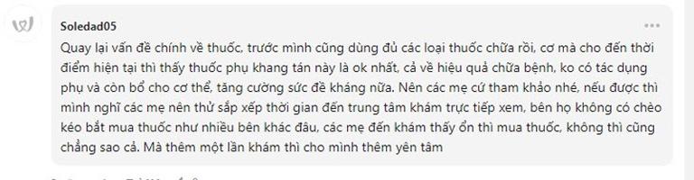Một review chân thực của bệnh nhân về Phụ Khang Tán và Trung tâm Phụ khoa Đông y Việt Nam