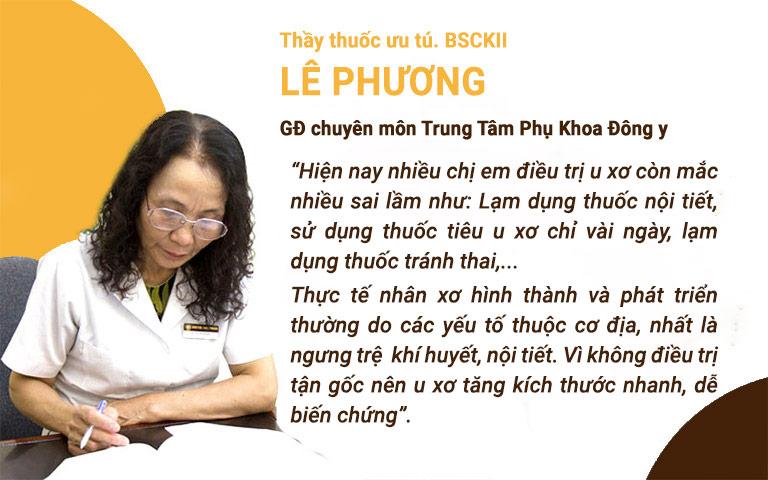 Bác sĩ Lê Phương chia sẻ về những sai lầm trong điều trị u xơ cổ tử cung