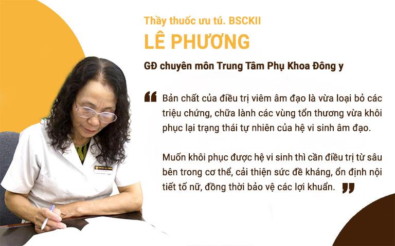 Bấc sĩ Lê Phương chia sẻ về nguyên tắc cốt lõi trong điều trị viêm âm đạo