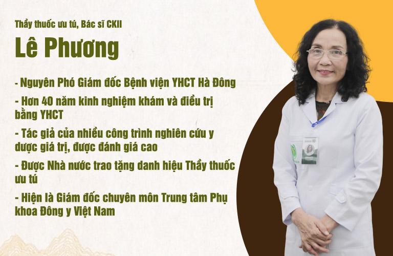 Bác sĩ Lê Phương từng đảm nhiệm vai trò Phó Giám đốc Bệnh viện YHCT Hà Đông