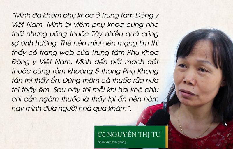 Chia sẻ của Bệnh nhân Nguyễn Thị Tư