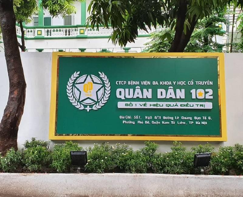 Bệnh viện Quân Dân 102 chất lượng dịch vụ tốt