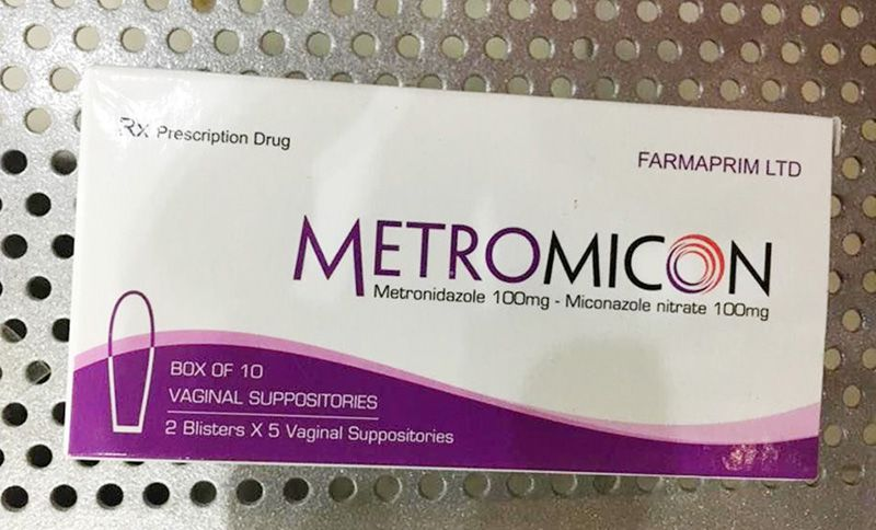 Thuốc chữa viêm âm đạo Trichomonas Metromicon dạng viên đặt