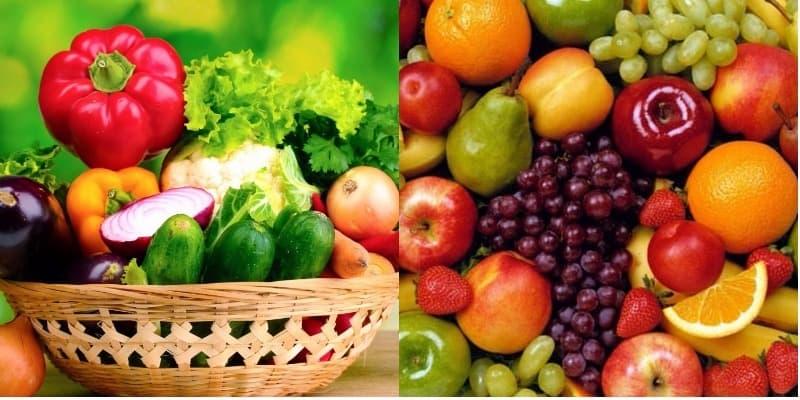 Người bệnh nên tăng cường bổ sung rau xanh và hoa quả tươi