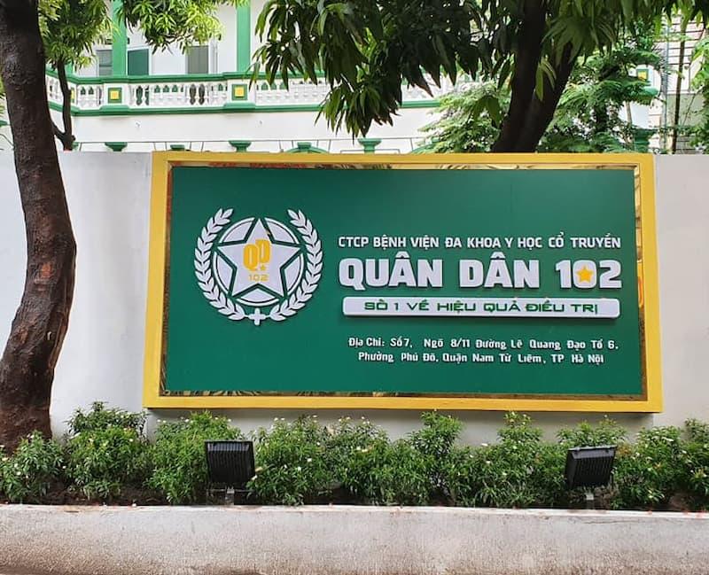 Bệnh viện Đa Khoa YHCT Quân Dân 102 là địa chỉ khám chữa uy tín