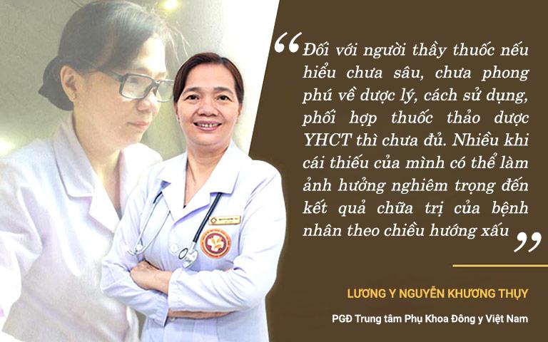 Lương y Nguyễn Khương Thụy luon trau dồi kiến thức về lương dược