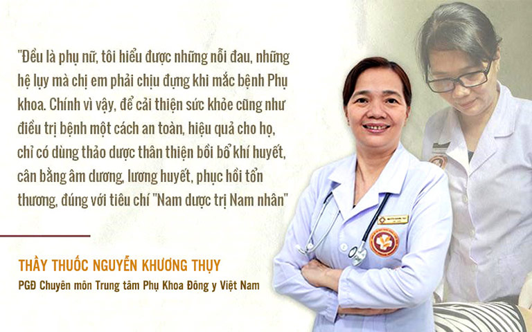 Lương y Khương Thụy chia sẻ về việc điều trị bệnh phụ khoa