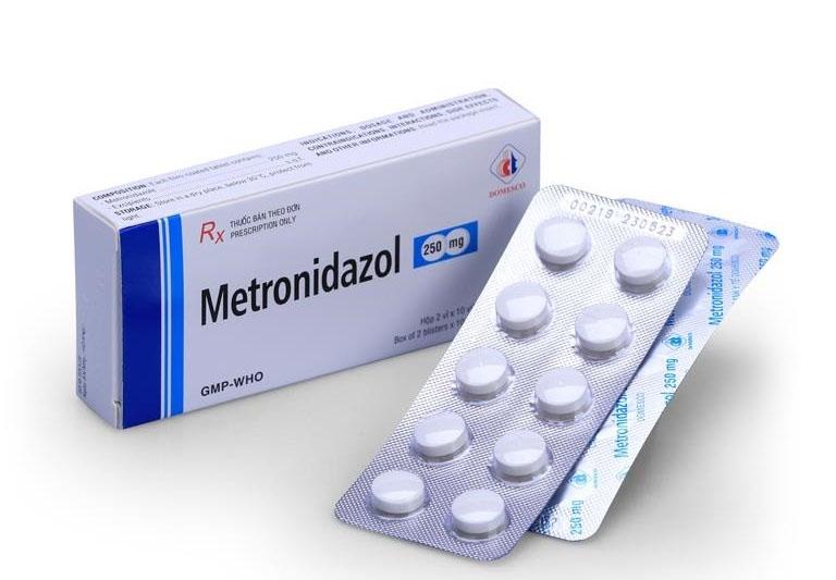 Thuốc trị viêm cổ tử cung Metronidazol loại viên uống.