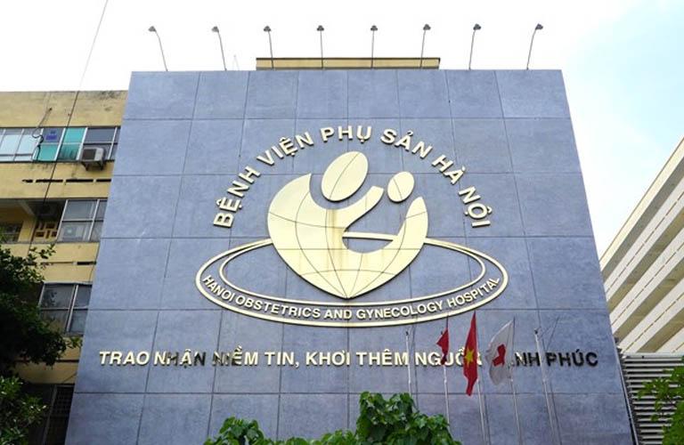 Bệnh viện phụ sản Hà Nội là địa chỉ chữa viêm cổ tử cung tốt.