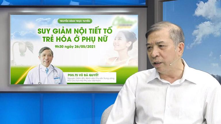 PGS, TS Vũ Bá Quyết, nguyên Giám đốc Bệnh viện Phụ sản Trung ương, Phó Chủ tịch Hội Phụ sản Việt Nam