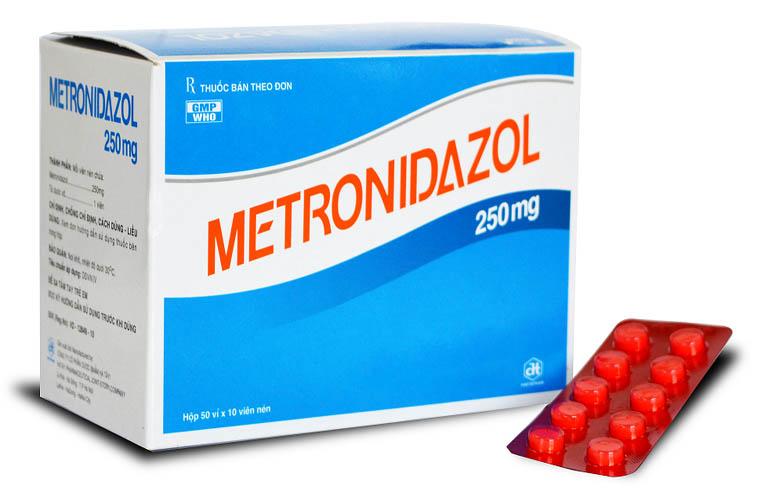 Thuốc đặc trị huyết trắng, nhiễm nấm âm đạo Metronidazol