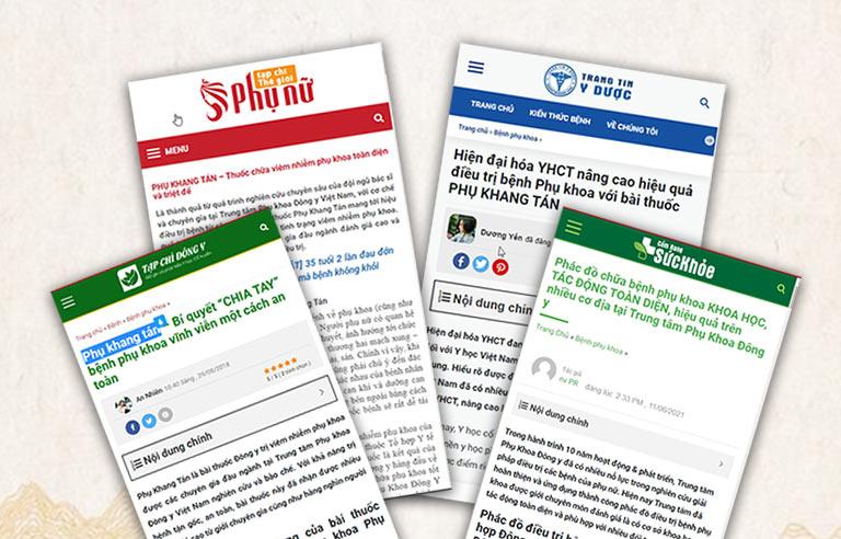Phụ Khang Tán được nhiều báo chí đưa tin