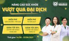 Chương trình NÂNG CAO SỨC KHỎE – VƯỢT QUA ĐẠI DỊCH với ưu đãi lên đến 20%